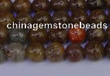CSL221 15.5 inches 6mm round gold leaf jasper beads wholesale