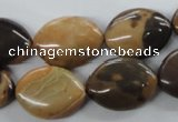 CSN10 15.5 inches 15*20mm marquise new snake skin jasper beads