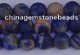 CSO522 15.5 inches 8mm round matte orange sodalite beads wholesale