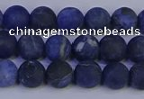 CSO542 15.5 inches 8mm round matte sodalite beads wholesale