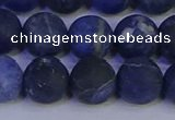 CSO545 15.5 inches 14mm round matte sodalite beads wholesale