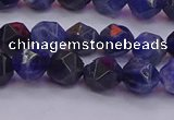 CSO552 15.5 inches 8mm faceted nuggets sodalite gemstone beads