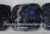 CSO57 15.5 inches 35*35mm square sodalite gemstone beads