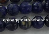 CSO644 15.5 inches 10mm faceted round sodalite gemstone beads
