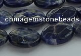 CSO717 15.5 inches 12*16mm faceted oval sodalite gemstone beads