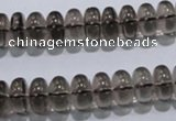CSQ107 15.5 inches 6*12mm rondelle grade AA natural smoky quartz beads