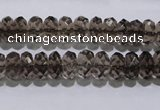 CSQ110 5*10mm faceted rondelle grade AA natural smoky quartz beads