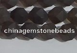 CSQ532 15.5 inches 8mm faceted nuggets matte smoky quartz beads