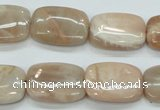 CSS212 15.5 inches 15*20mm rectangle natural sunstone beads