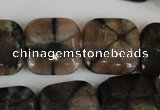 CST43 15.5 inches 20*20mm square staurolite gemstone beads wholesale