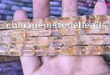 CTB255 15.5 inches 10*14mm tube natural citrine gemstone beads
