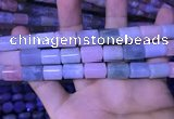 CTB261 15.5 inches 10*12mm - 10*14mm triangle natural morganite beads