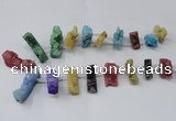 CTD1655 Top drilled 10*20mm - 15*40mm freeform druzy agate beads