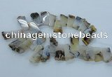 CTD1971 Top drilled 15*25mm - 20*40mm freeform montana agate beads