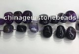 CTD2122 Top drilled 15*25mm - 18*25mm freeform agate beads