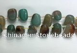 CTD2129 Top drilled 15*25mm - 18*25mm freeform agate beads