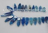 CTD2513 Top drilled 15*25mm - 16*50mm sticks agate gemstone beads