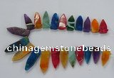 CTD2515 Top drilled 15*25mm - 16*50mm sticks agate gemstone beads