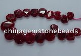 CTD2587 Top drilled 20*25mm - 30*40mm faceted freeform agate beads