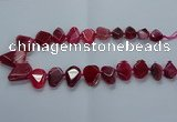CTD2596 Top drilled 15*20mm - 25*35mm faceted freeform agate beads
