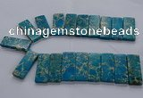CTD2661 Top drilled 18*45mm - 20*48mm rectangle sea sediment jasper beads