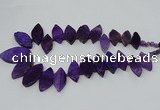 CTD2790 Top drilled 15*30mm - 25*45mm marquise agate gemstone beads