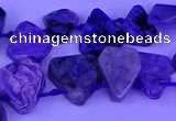 CTD3871 Top drilled 8*8mm - 12*13mm freeform charoite beads