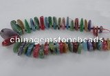 CTD793 Top drilled 15*25mm - 25*40mm freeform agate gemstone beads