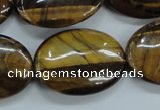 CTE105 15.5 inches 22*30mm oval yellow tiger eye beads wholesale