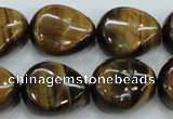 CTE114 15.5 inches 18*22mm nugget yellow tiger eye beads wholesale