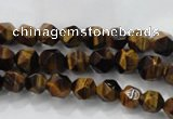 CTE1200 15 inches 6mm faceted nuggets yellow tiger eye beads