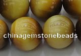CTE1406 15.5 inches 16mm round golden tiger eye beads wholesale