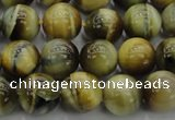 CTE1441 15.5 inches 6mm round golden & blue tiger eye beads