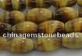 CTE1516 15.5 inches 8*12mm rice golden tiger eye beads wholesale