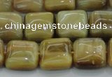 CTE1528 15.5 inches 14*14mm square golden tiger eye beads wholesale
