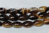 CTE159 15.5 inches 10*14mm rice yellow tiger eye gemstone beads