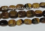CTE173 15.5 inches 6*9mm nuggets yellow tiger eye gemstone beads