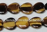 CTE184 15.5 inches 20*20mm heart yellow tiger eye gemstone beads