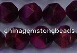 CTE1909 15.5 inches 12mm faceted nuggets red tiger eye beads