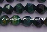 CTE1947 15.5 inches 8mm faceted nuggets green tiger eye beads