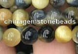 CTE2015 15.5 inches 6mm round golden & blue tiger eye beads wholesale