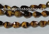 CTE203 15.5 inches 6*8mm faceted teardrop yellow tiger eye beads