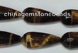 CTE205 15.5 inches 12*26mm faceted teardrop yellow tiger eye beads