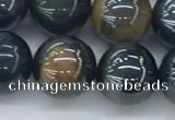 CTE2088 15.5 inches 12mm round AB-color blue & yellow tiger eye beads