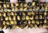 CTE2159 15.5 inches 8mm round yellow tiger eye gemstone beads