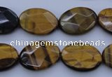 CTE431 15.5 inches 15*20mm faceted oval yellow tiger eye beads