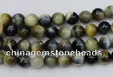 CTE551 15.5 inches 6mm round golden & blue tiger eye beads