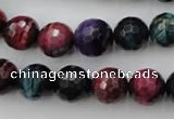 CTE583 15.5 inches 10mm faceted round colorful tiger eye beads