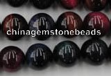 CTE595 15.5 inches 14mm round colorful tiger eye beads wholesale