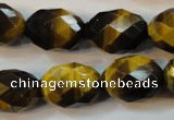 CTE625 15.5 inches 15*20mm faceted rice yellow tiger eye beads wholesale